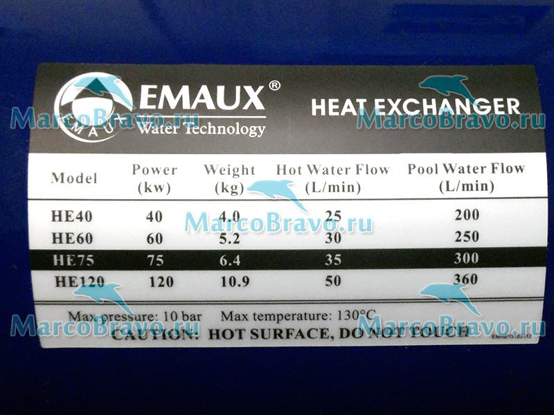 Теплообменник emaux he 120 kw чем чистить теплообменник в газовом котле