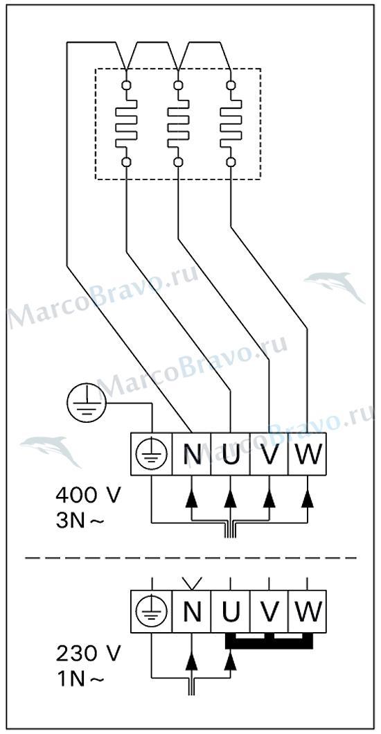Схема электромонтажа печи
