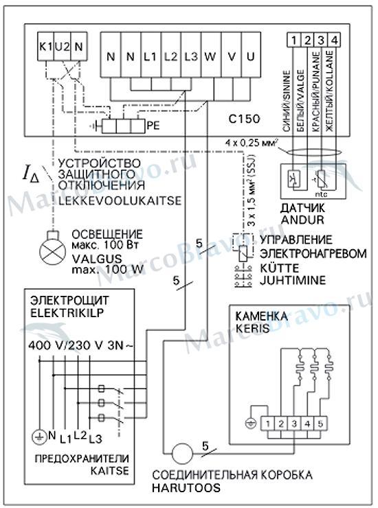 Схема подключения пульта C-150